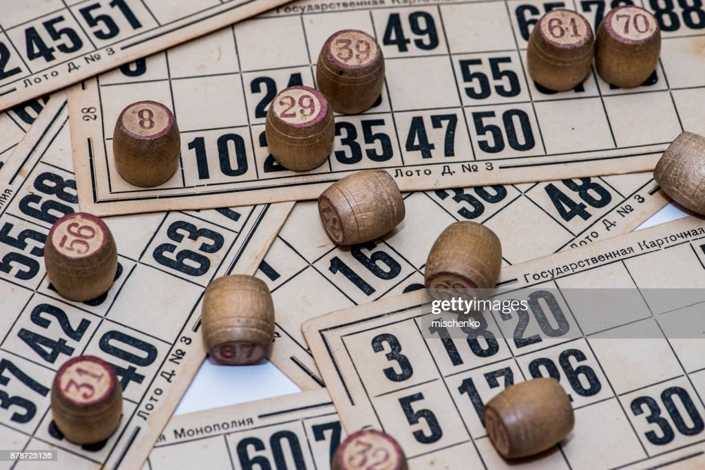 game Vintage picture lotto board