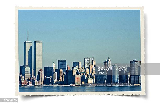 Vintage Lower Manhattan skyline