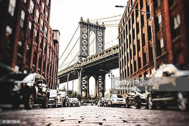 Vintage manhattan bridge de Nueva york