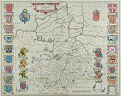 Vintage map of Cambridge , England