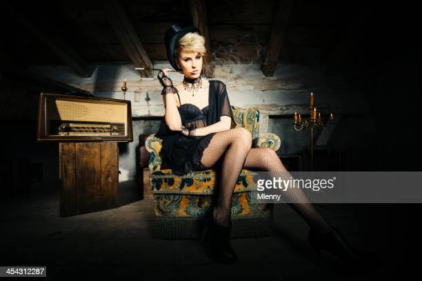 Marlene Dietrich Vintage Ritratto di Donna seducente