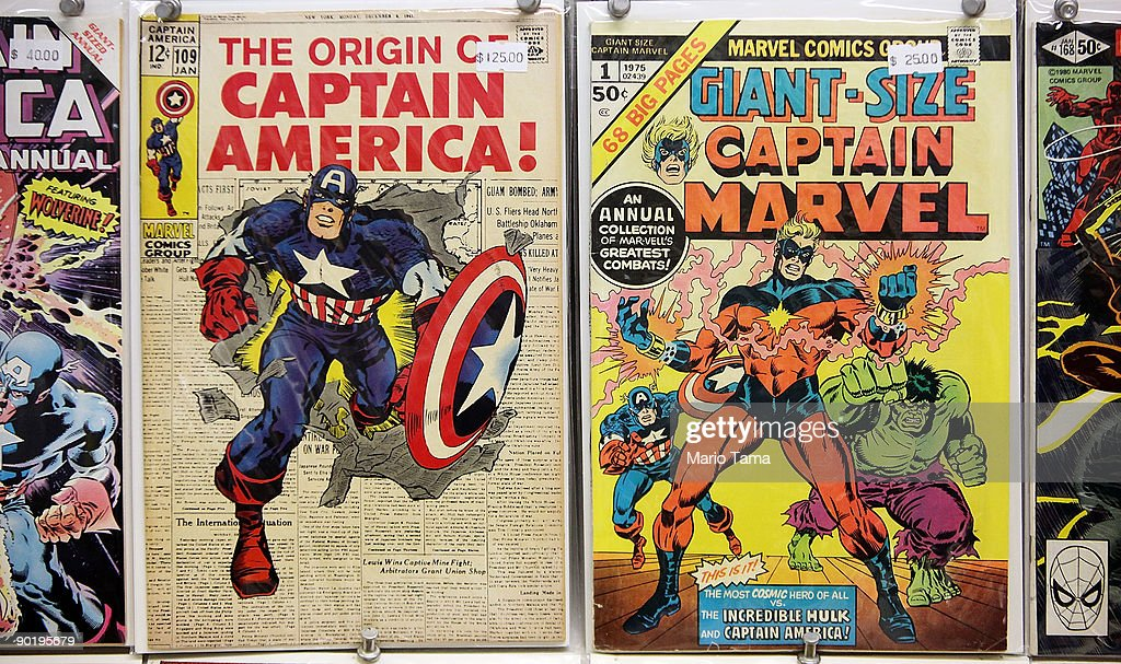 Vintage Marvel comics are seen for sale at St. Mark's Comics August 31, 2009 in New York City. The Walt Disney Co. announced that it plans to acquire Marvel Entertainment Inc. for $4 billion in stock and cash, bringing 5,000 Marvel characters including Spider Man and Incredible Hulk under the Disney umbrella.