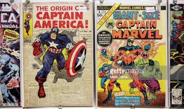 Vintage Marvel comics are seen for sale at St Mark's Comics August 31 2009 in New York City The Walt Disney Co announced that it plans to acquire...