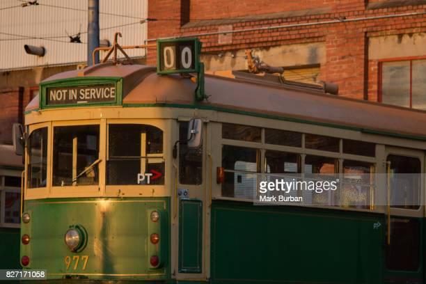 vintage melbourne tram - not in service