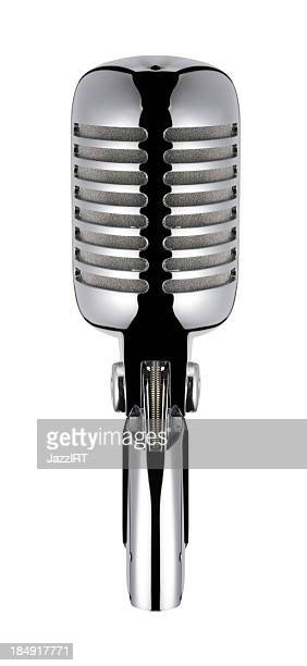 Vintage Microphone (isolated with clipping path over white background)