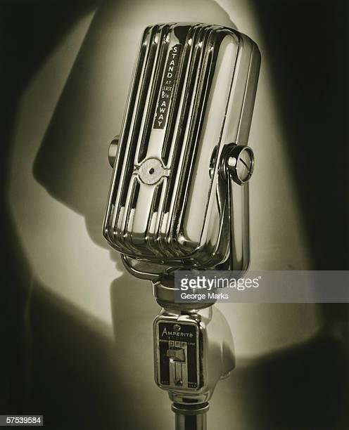Vintage microphone, (B&W)
