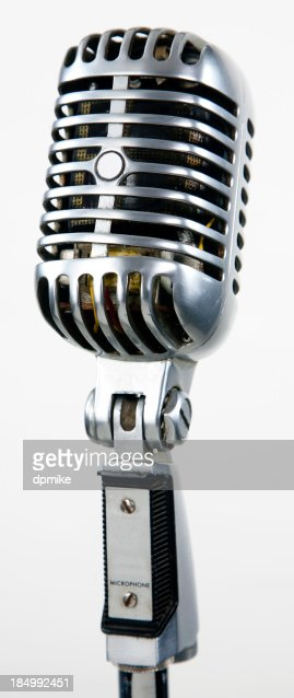vintage microphone sound gear - retro