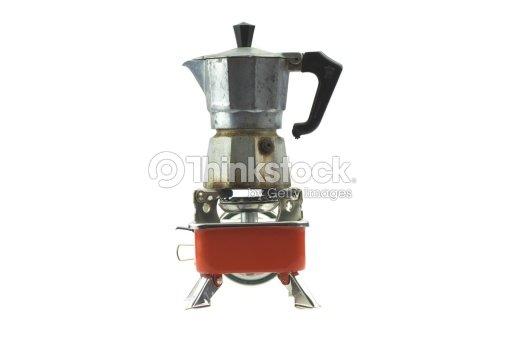 Italian Coffee Pot Maker Dies : Vintage Moka Pot Italian Coffee Maker On Orange Stove Stock Photo Thinkstock