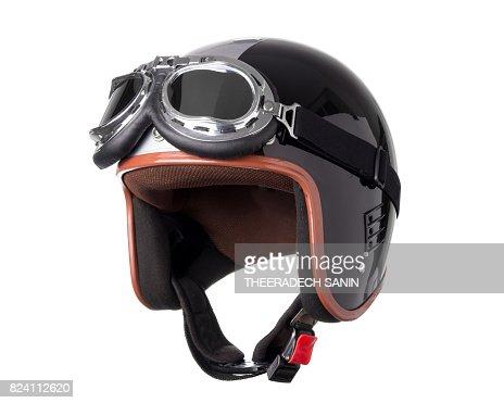 Vintage Motorcycle Helmet : Stock Photo