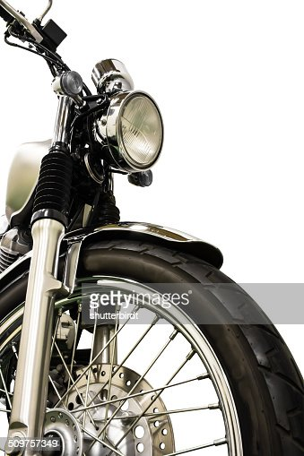 vintage Motorcycle isolated background and clippingpath : Stock Photo