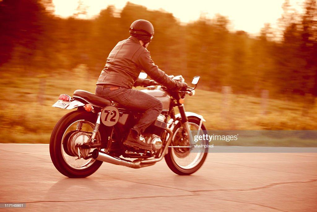 Vintage motorcycle ride