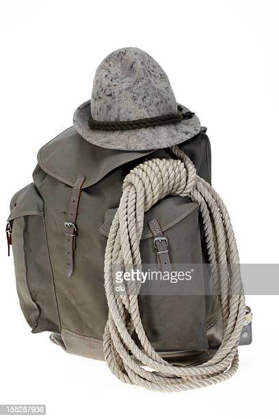 Vintage Bergsteigen Rucksack mit Hut