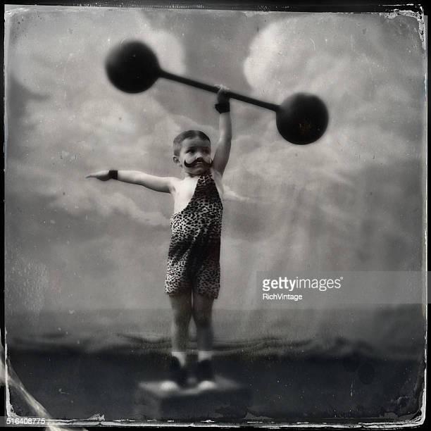 Vintage Muscle Man