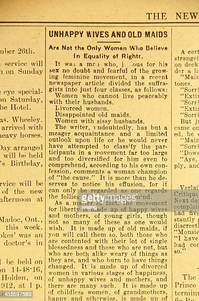 Vintage Newspaper Article ... Equal Rights
