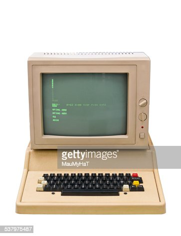 Vintage old computer : Stock Photo