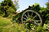 Vintage Old Horse Carriage Horse Cart For Farming