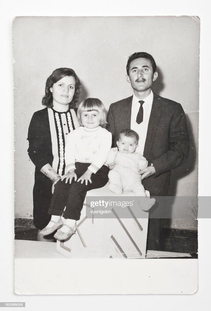Old Familie Bild : Stock-Foto