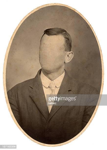 vintage oval portrait