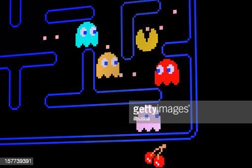 Vintage Pacman video game