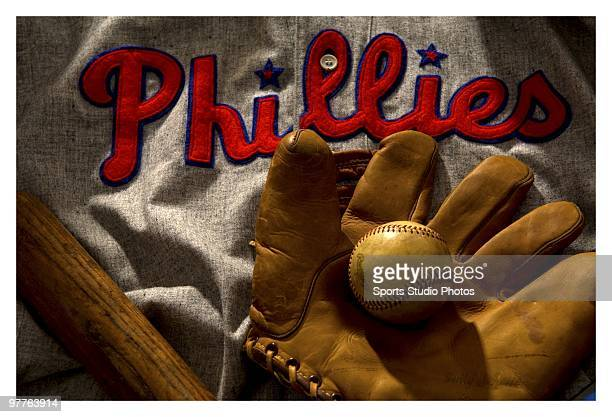Vintage Phillies jersey photographed in the studio on March 15 2010 in Los Angeles California