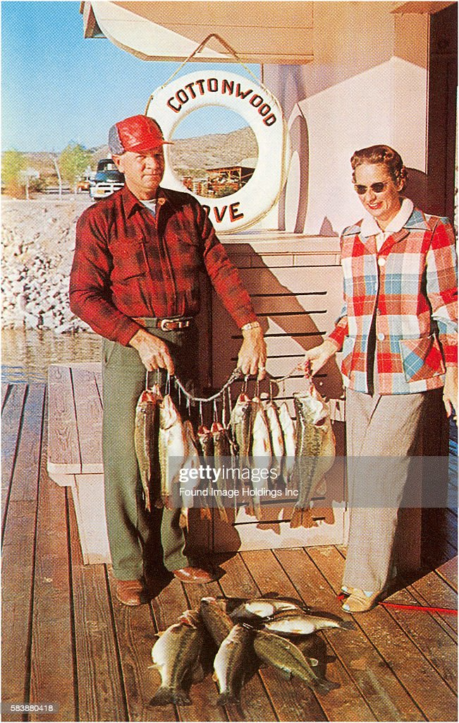 Caught Fish on the Deck Cottonwood Cove