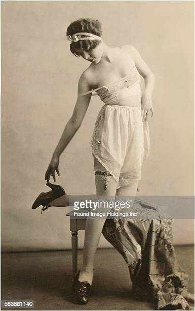 Woman in Underwear and Shoes