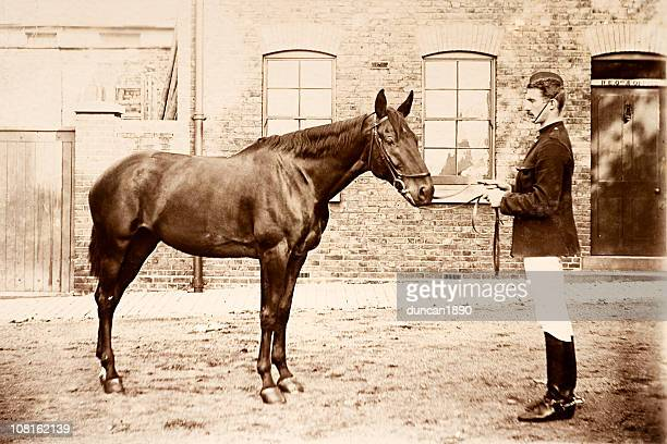 Vintage Photograph of Soldier with Horse