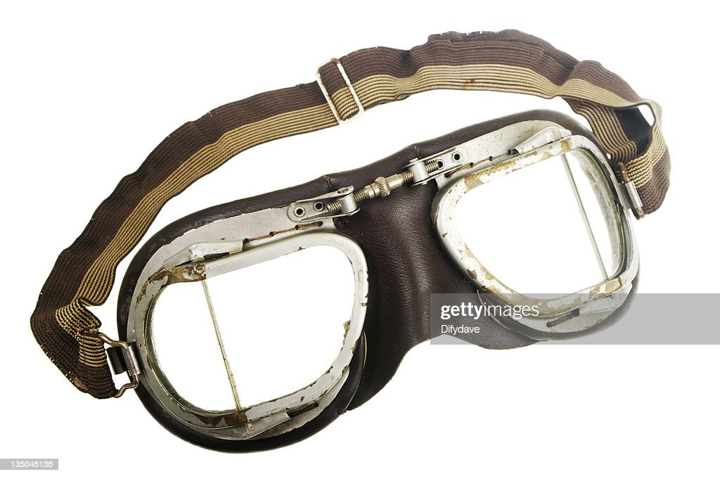 Vintage pilot goggles with elastic strap