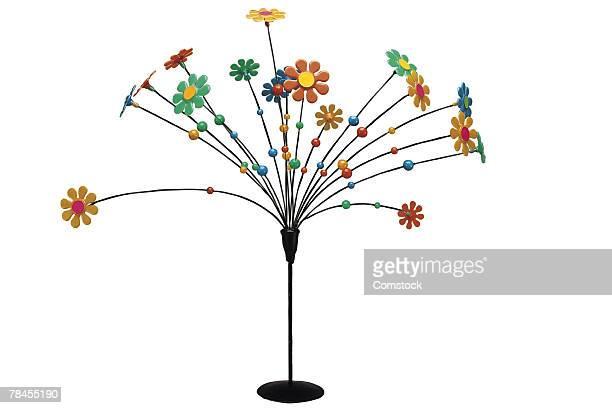 Vintage plastic flower fixture