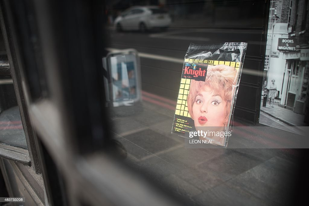 Vintage pornographic magazines are displayed in the window of Ram Books in north London on August 4 2015 Once upon a time before the Internet...