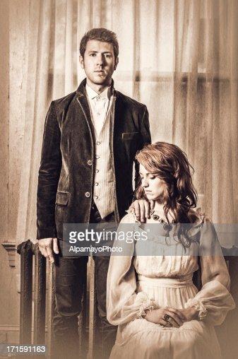 Vintage portrait of a young couple - IV