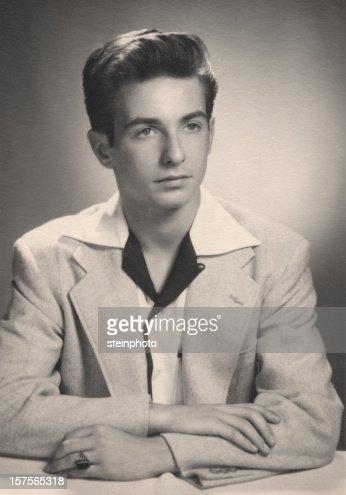 Vintage Portrait of Young Man