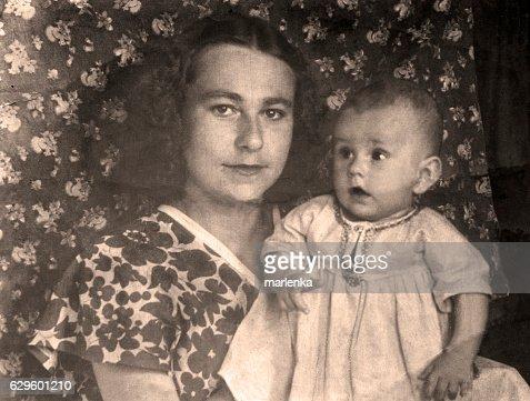 Vintage portrait,1951 year. : Stock Photo