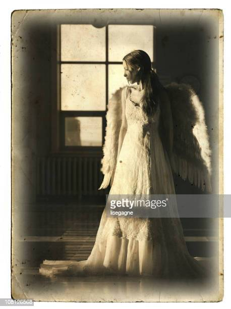Retro Postkarte Angel