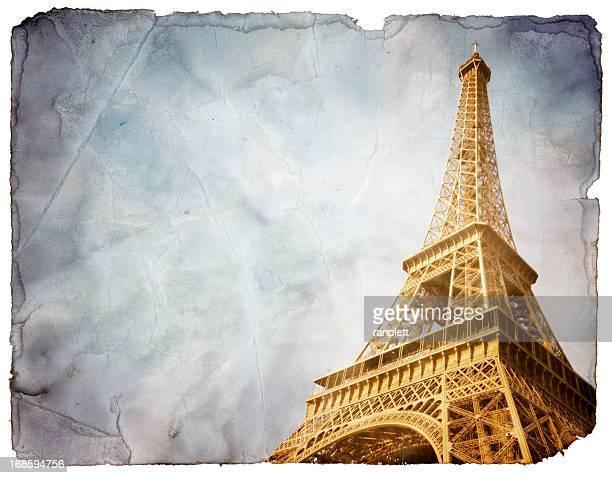 Vintage carte postale de Paris (comprend Tracé de détourage
