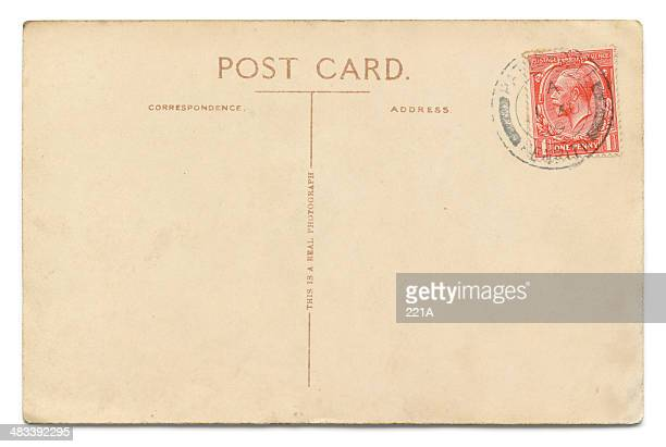 Vintage postcard on white