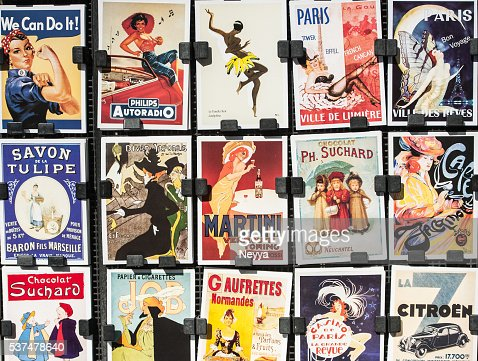 Vintage Posters and Advertisements for Sale at Traditional Bookstall, Paris