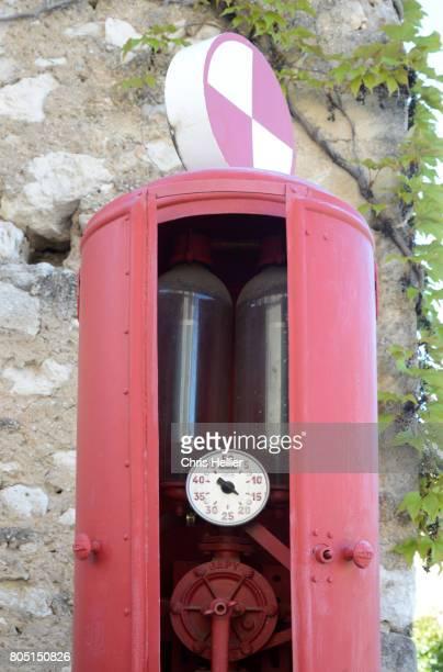 Vintage Pump-Action Petrol or Fuel Pump Eygalières Provence