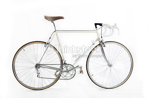 31e08a1ef23 Vintage Racing Bike Isolated On A White Background Stock Photo ...
