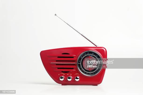 Vintage Radio on Red
