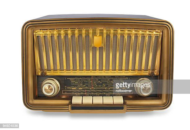 Vintage radio with path