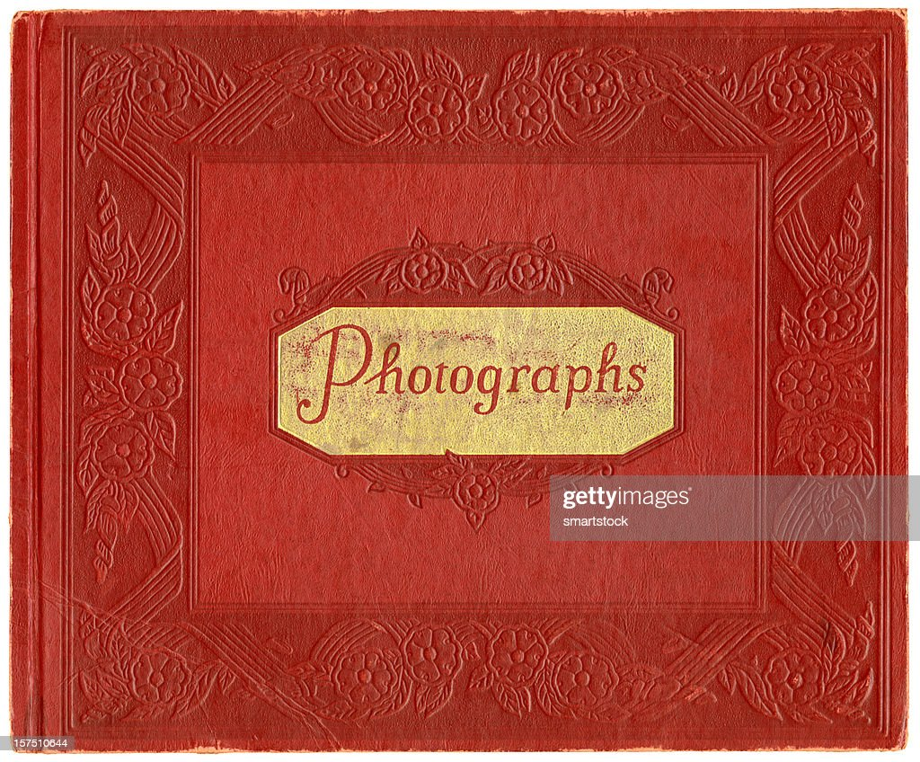 Vintage Red Leather Photo Album Cover