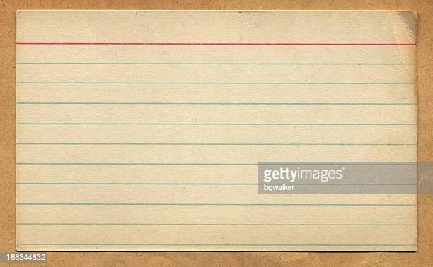 Vintage Retro Index Card Design Element