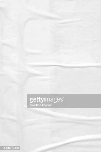 Vintage ripped torn creased crumpled paper background surface/ Old posters grunge textures collage background : Stock Photo