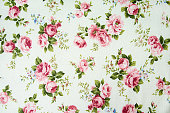 vintage rose pattern on Fabric background.