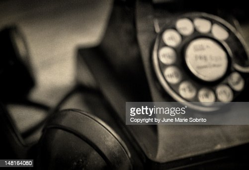 Vintage rotary telephone : Stock Photo