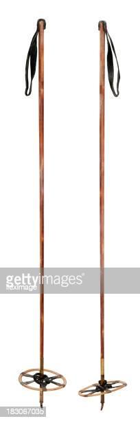 Des bâtons de Ski Vintage-Vertical