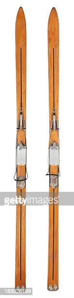 Vintage-Vertical des Skis