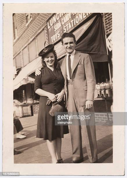 Vintage Snapshot of a Couple in Brooklyn