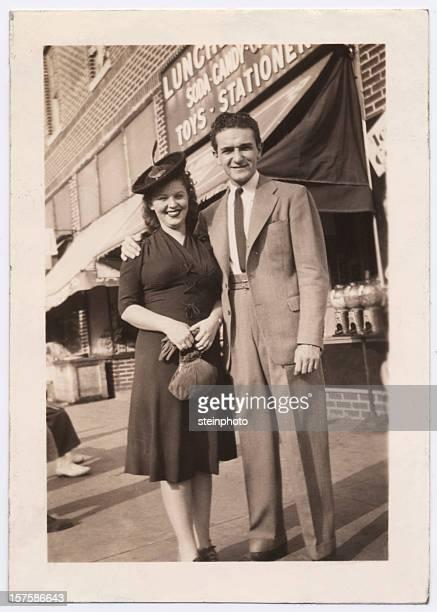 Vintage Foto von ein paar in Brooklyn